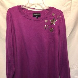 Shiny Star Sweater -  Purple